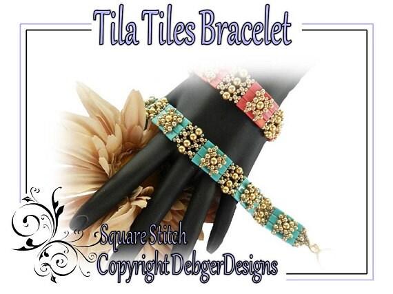 Tila Tiles Bracelet - Beading Pattern Tutorial