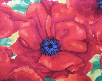 Poppies Poppy Flower Floral Timeless Treasures Fabric Yard