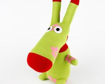 Free Shipping Handmade Sock Donkey Stuffed Animal Doll Baby Toys