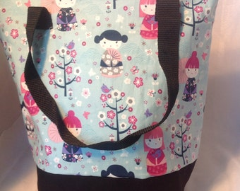 Geisha Girl Insulated Zip-up Lunch bag