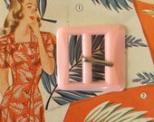 VINTAGE 1950's Pale Pink Belt Buckle Never Worn NOS