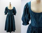 Vintage Dress  Dirndl Style - Lanz - Medium Large