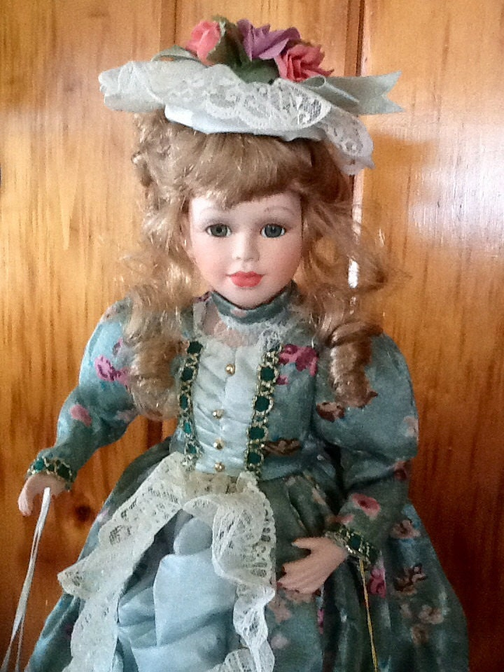 Collectible Memories Olivia Porcelain Doll by thefunnybunny
