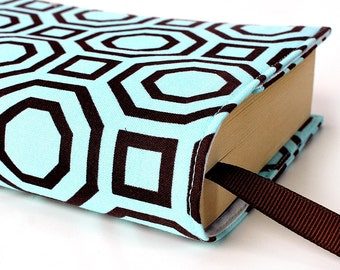 Paperback book cover for mass market books, Reusable book cover, Fabric book cover - Octagon