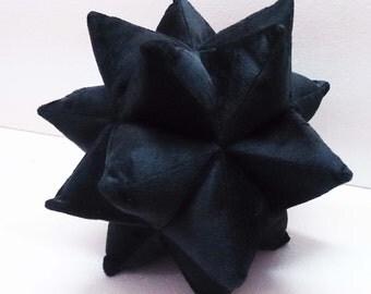 black pillow-star pillow-velvet pillow-designer pillow-accent pillow-rustic pillow-star pillow-nursery pillow-nursery decor-baby gift