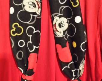Boutique Custom Made OOAK  Fleece Mickey Mouse Scarf