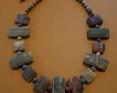 Red creek jasper beaded necklace