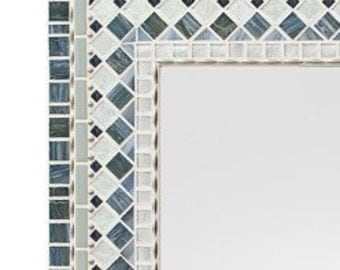 Wall Mirror - Silver & Gray Mosaic