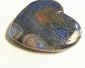 Dragon Vein gemstone heart pendant