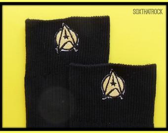 Men's Star Trek socks - you pick sock type, sock color, and icon