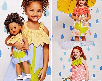 Dolly and Me Dress Pattern, Little Girls' Very Easy Sun Dress Pattern, Sz 3 to 8, Simplicity Sewing Pattern 1172
