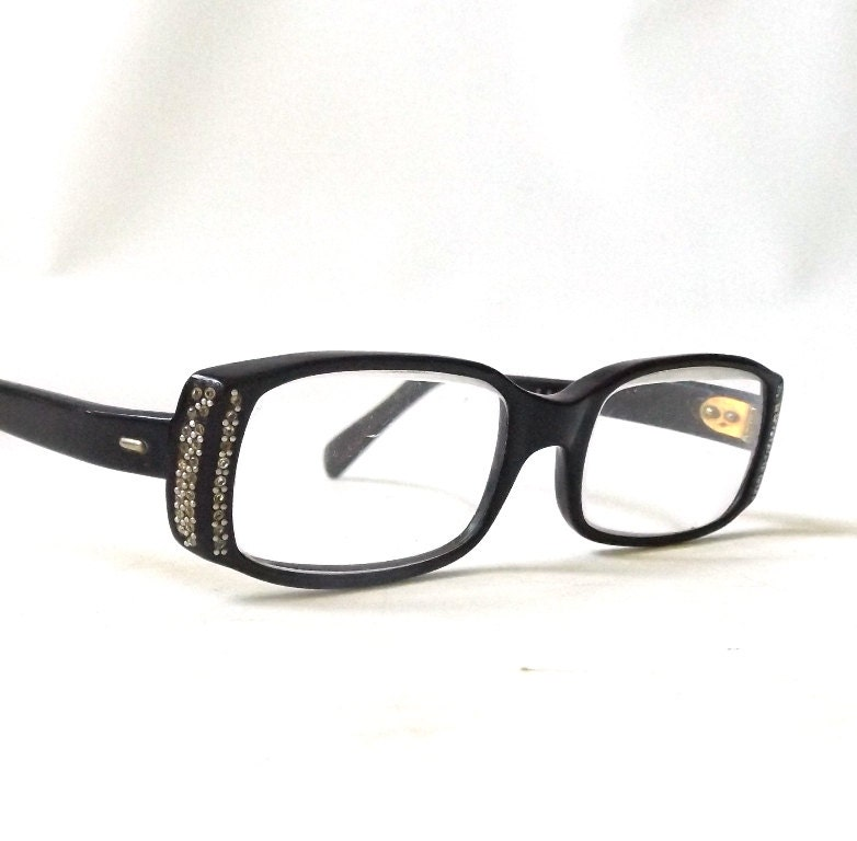 vintage 1950 s square eyeglasses black by recyclebuyvintage