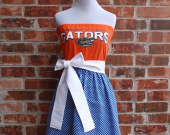 University of Florida Gators Strapless Game Day Dress - Size Small
