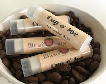 Cup o' Joe Lip Balm . Cocoa Butter Beeswax Lip Balm Tube by WickedSoaps