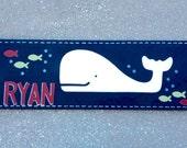 Whale Art for boys room, nursery or bath