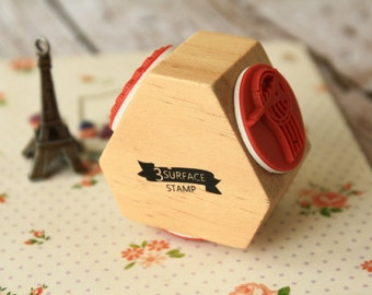 3 Surface deco rubber stamp
