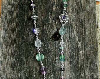Sterling Silver and Fluorite Necklace   N16