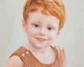 Oil Painting - Custom Portraits from Your Photos - Child Portrait  20x16inch - initial 50% payment - reserved for Juli