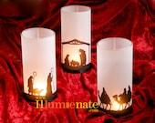 3 piece Nativity Set - Christmas present - Nativity Candle