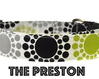 Green and Gray Dog Collar - The Preston