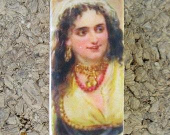 Gypsy Lady domino pendant. Sale, half price