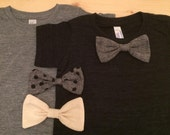 Custom Order for Kelly - Bow tie T