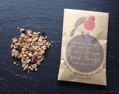Little Christmas robin bird feast sachet, perfect for stocking fillers and eco-friendly!