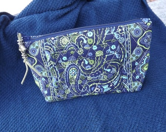 Quilted Make Up Bag, Cosmetic Case, Cell Phone Case, Card Case