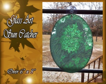 Greenman Glass Suncatcher