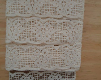 Vintage Beige Lace Trim - Edging