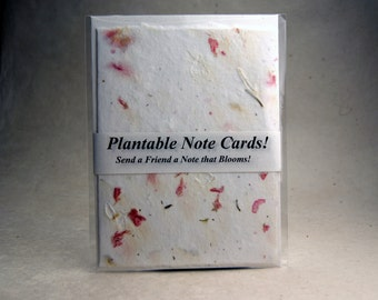 Pink Larkspur and Wildflower Seed Plantable Handmade Cotton Paper Card