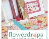 flowerDROPS table runner by emily ann's kloset PDF