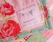 handmade with love small fabric label