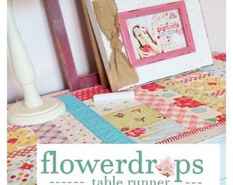 flowerDROPS table runner by emily ann's kloset