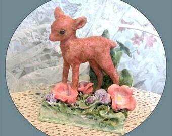 Deer Decor Baby Room Decor Baby Deer Decoration Baby Fawn Decor Deer Figurine Doe Decor Deer Sculpture Deer Figure Fawn Figurine Deer Statue