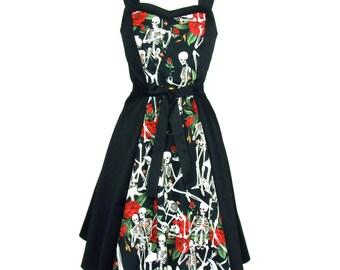 Skulls and Roses Dress Full Circle Dress