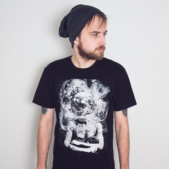 Surreal Space T-Shirt. Tattoo shirt. Goddess of the Universe Tee. Vintage Inspired Mens / Unisex Clothing