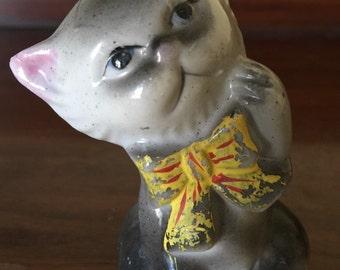 Vintage Japan Smiling kitty cat Figurine