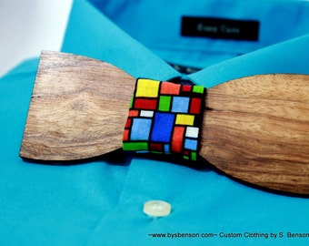 Wood Bow Tie wood - zebrawood