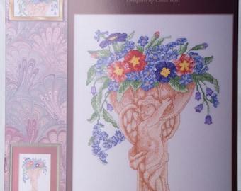 StitchWorld Leaflet 03-118L Blooming Cherubs   Counted Cross Stitch