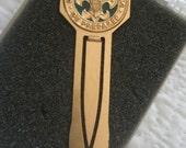 Vintage Brass Boy Scout Book Mark in Original Box