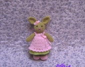 Polly...lovely crochet little bunny doll......this listing is for the little bunny