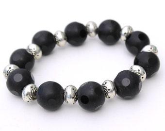 Black Stretch Bracelet