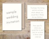 Sample Wedding Invites. Wedding Invitations. Invitations. Wedding Invitation Sets.  Wedding Invites. Wedding Invitation  - SAMPLE