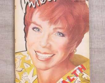 Interview Magazine , 1985 , Shirley MaClaine , Art and Entertainment , Tabloid , Andy Warhol , Fashion , Actor , Actress , Magazine