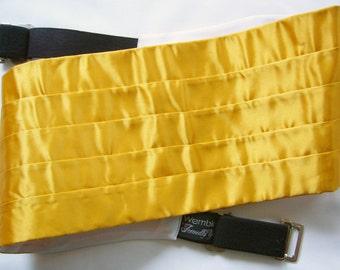 Vintage Golden Yellow Cummerbund - Adjustable