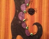 Witchy Poo's Shoe Applique PDF Pattern for Tea Towel