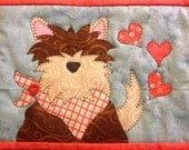 Puppy Love Mug Mat PDF Pattern