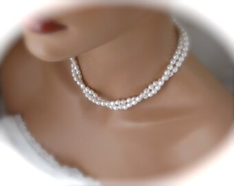 Wedding Pearl Necklace Bridesmaid Jewelry Wedding Jewelry Bridesmaid Necklace Gift