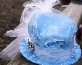 Steampunk Mini Hat Fascinator- Cinderella
